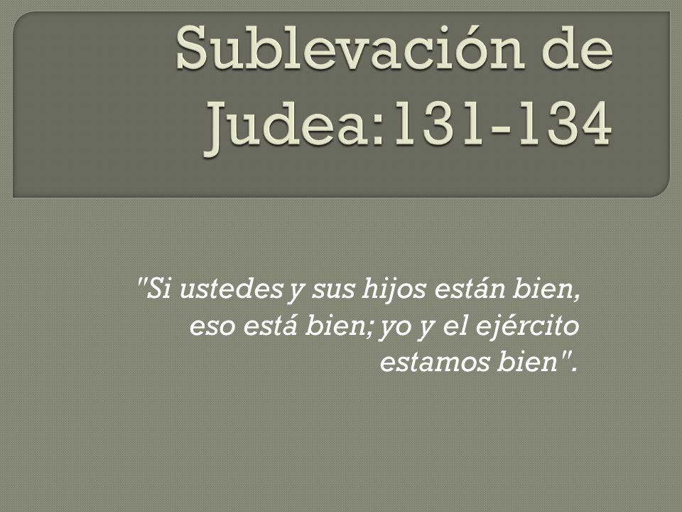 Sublevación de Judea:131-134