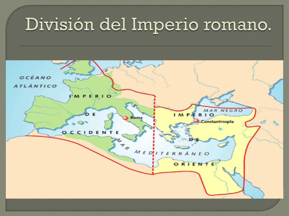 División del Imperio romano.