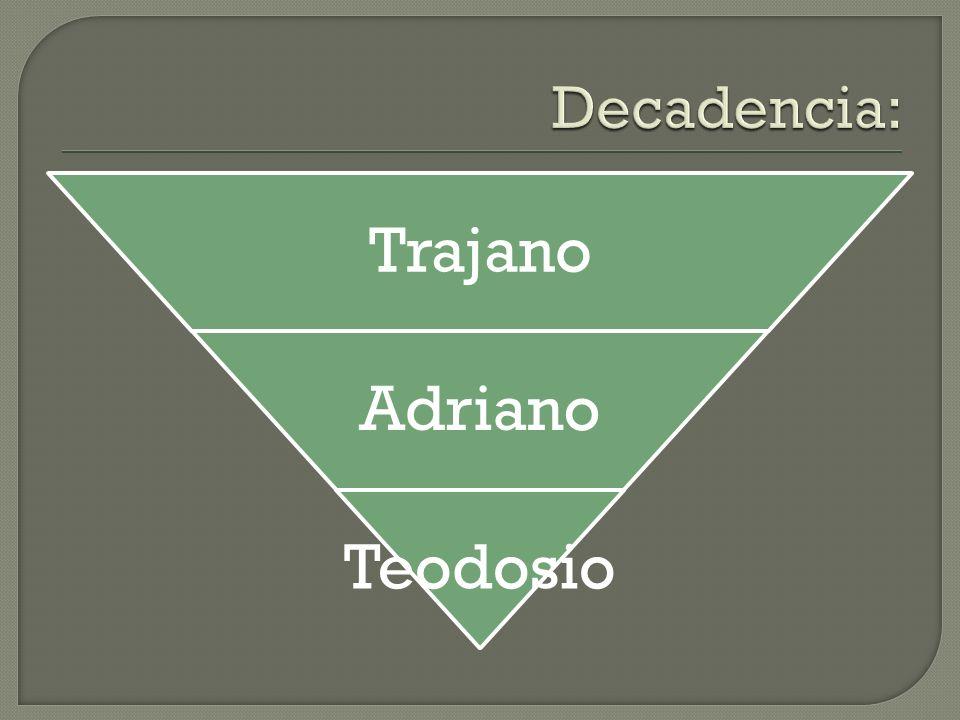 Decadencia: Trajano Adriano Teodosio