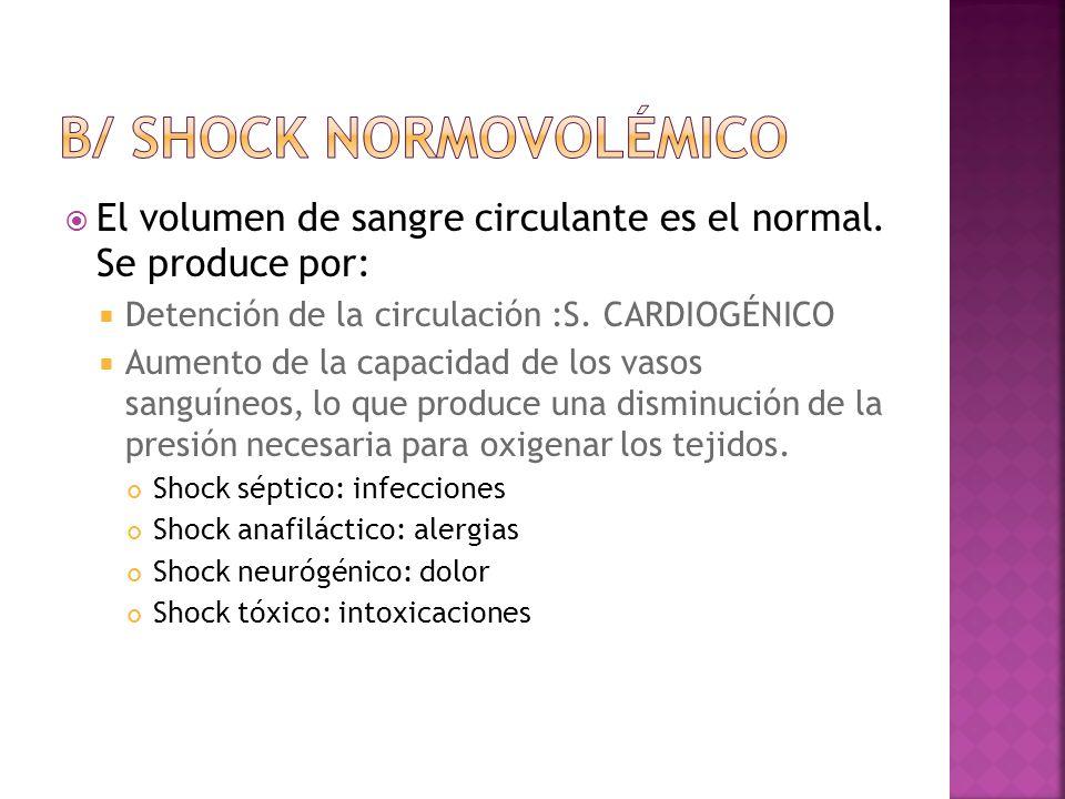 b/ shock normovolémico