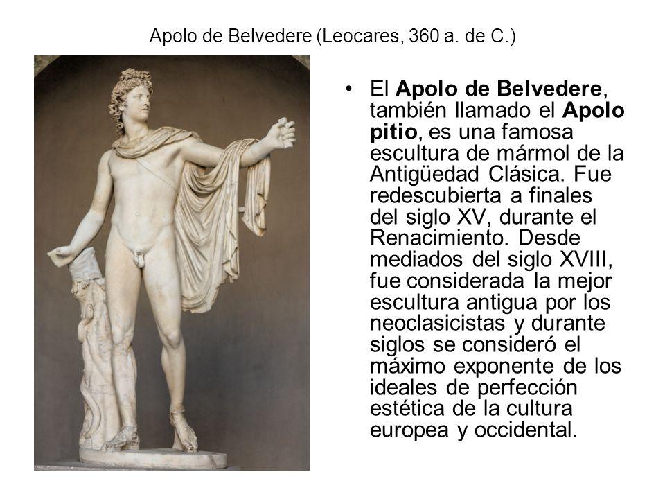 Apolo de Belvedere (Leocares, 360 a. de C.)