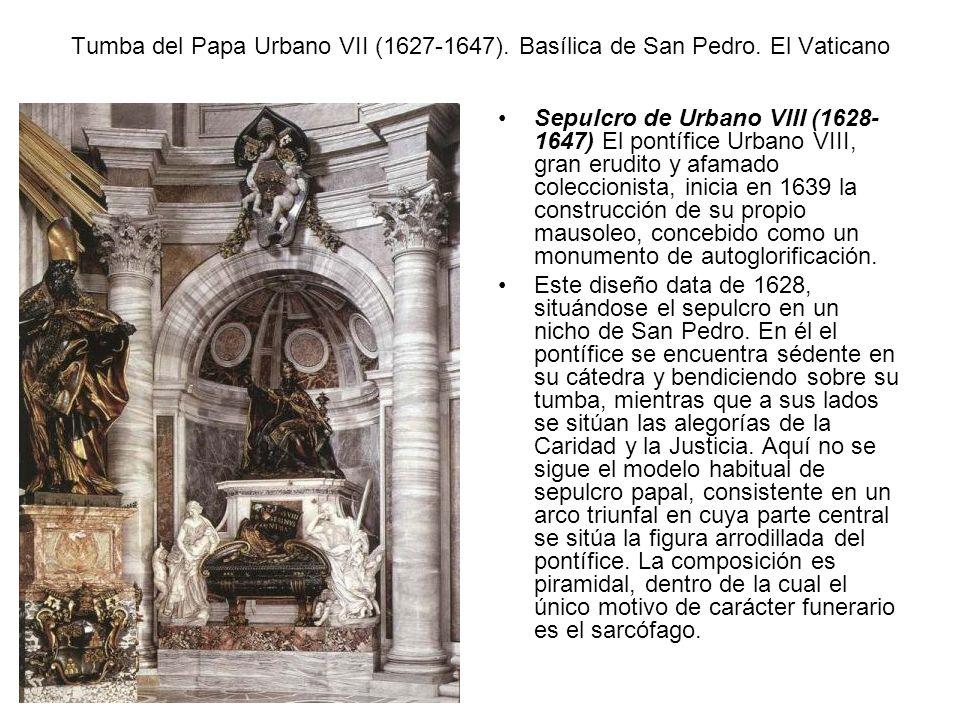 Tumba del Papa Urbano VII (1627-1647). Basílica de San Pedro