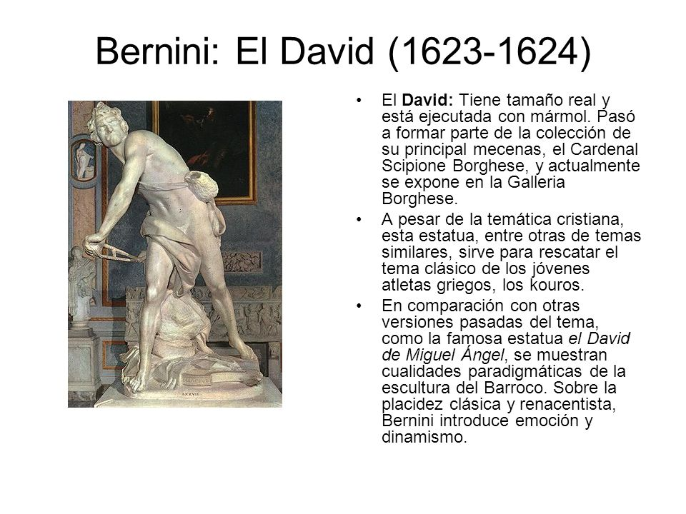Bernini: El David (1623-1624)