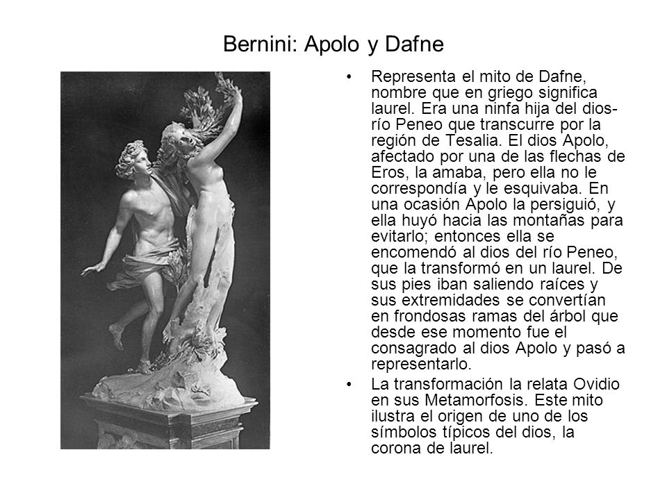 Bernini: Apolo y Dafne