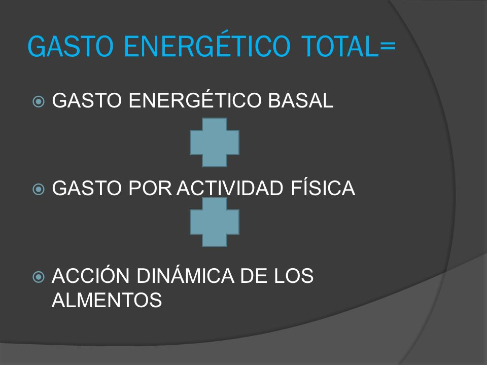 GASTO ENERGÉTICO TOTAL=