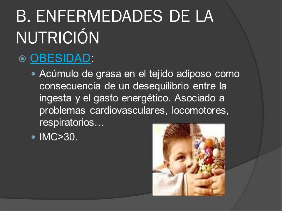 B. ENFERMEDADES DE LA NUTRICIÓN