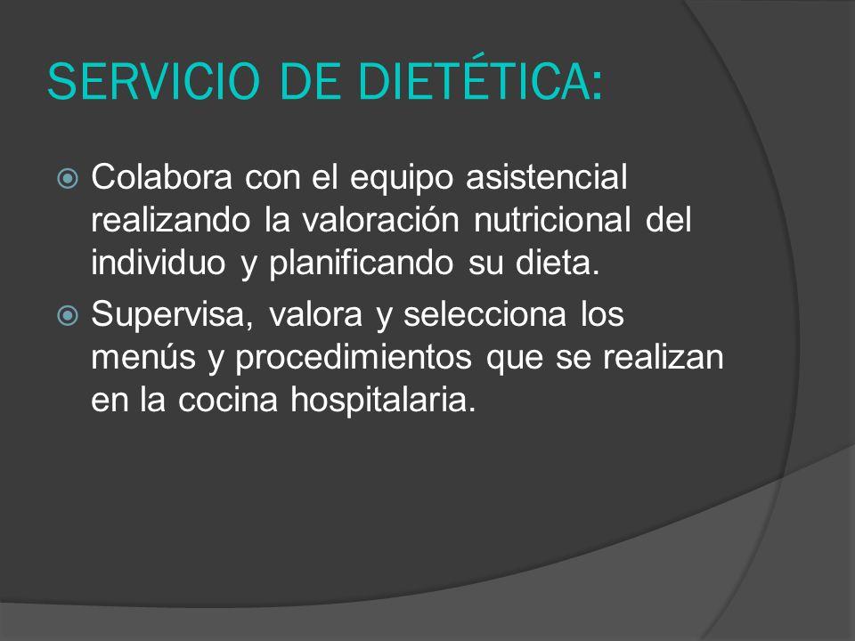 SERVICIO DE DIETÉTICA: