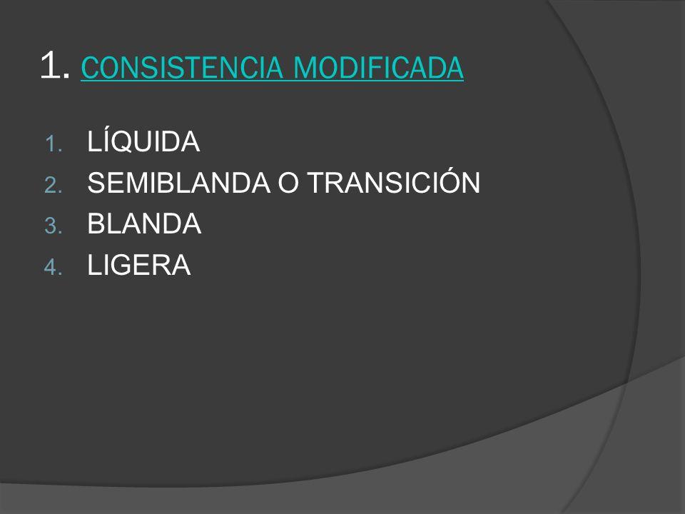1. CONSISTENCIA MODIFICADA