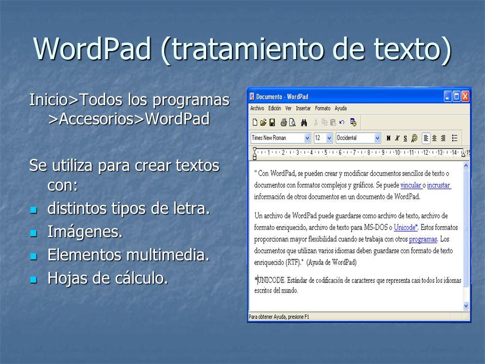 WordPad (tratamiento de texto)