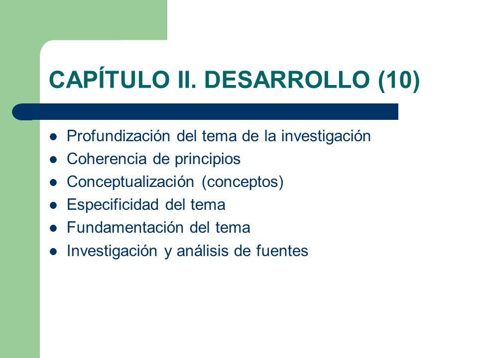 CAPÍTULO II. DESARROLLO (10)