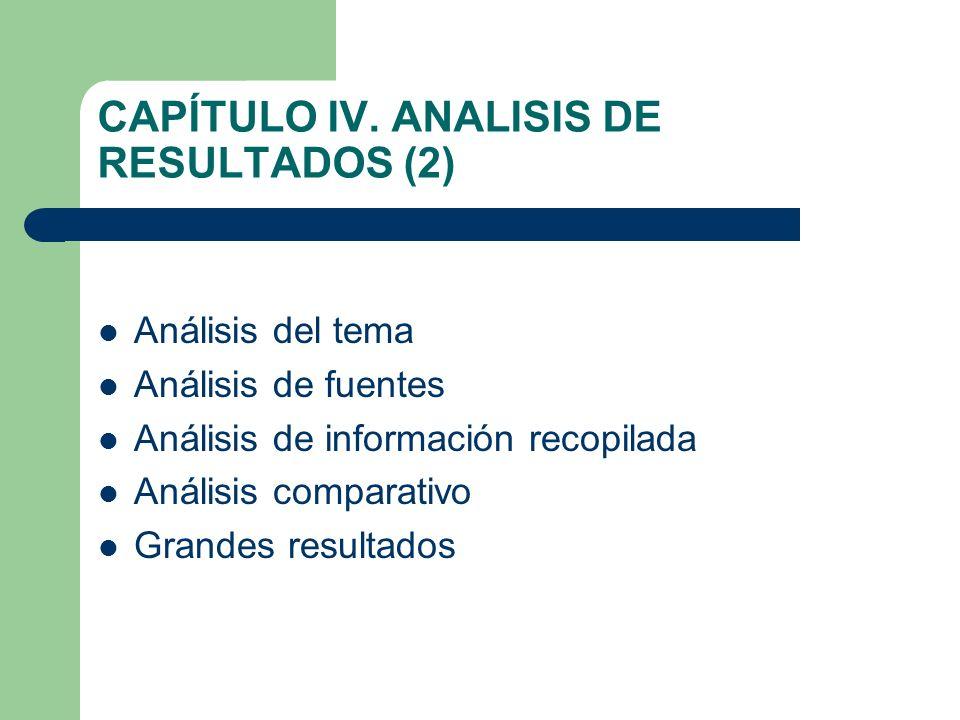 CAPÍTULO IV. ANALISIS DE RESULTADOS (2)