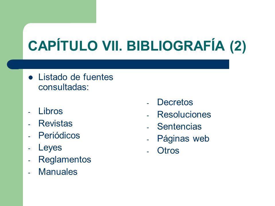 CAPÍTULO VII. BIBLIOGRAFÍA (2)