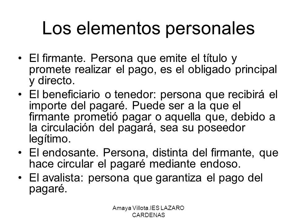 Los elementos personales