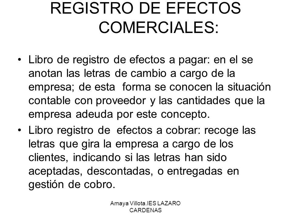 REGISTRO DE EFECTOS COMERCIALES:
