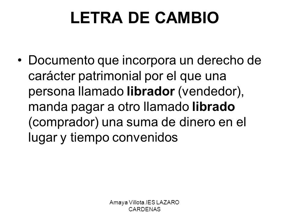 Amaya Villota.IES LAZARO CARDENAS