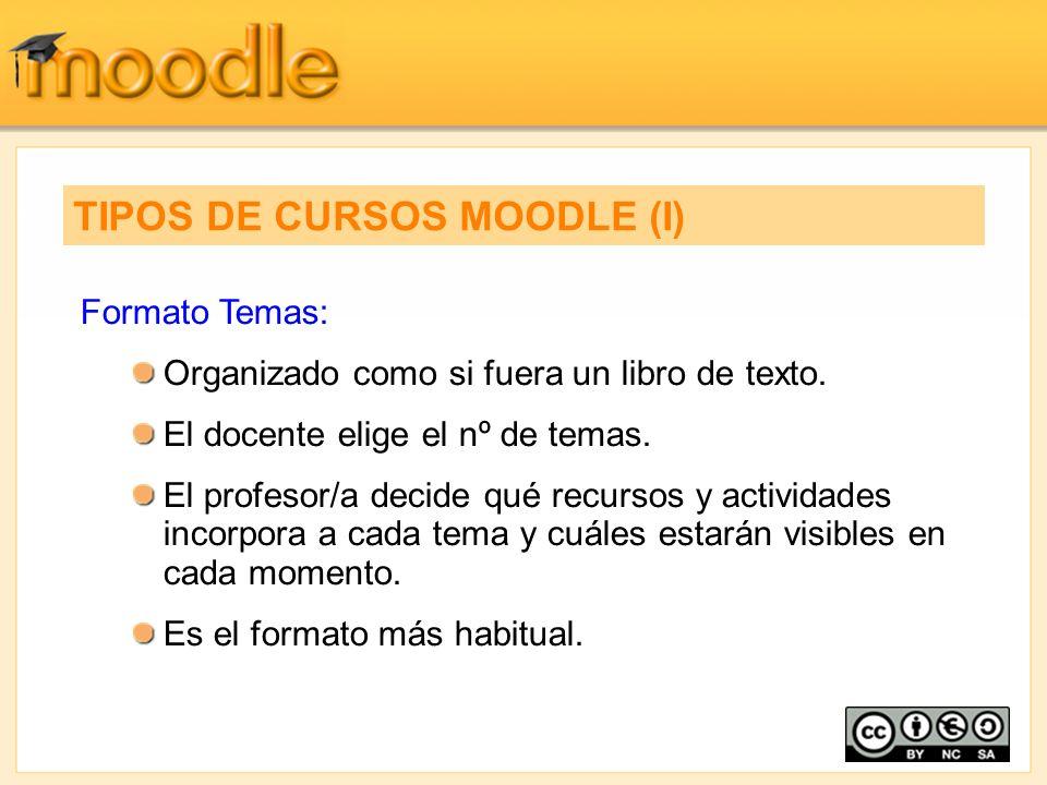 TIPOS DE CURSOS MOODLE (I)