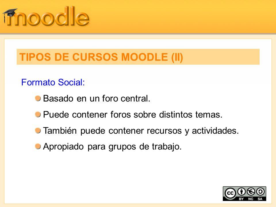 TIPOS DE CURSOS MOODLE (II)