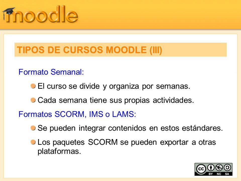 TIPOS DE CURSOS MOODLE (III)