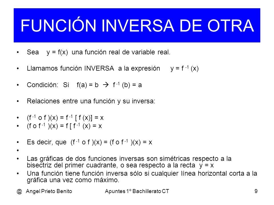 FUNCIÓN INVERSA DE OTRA
