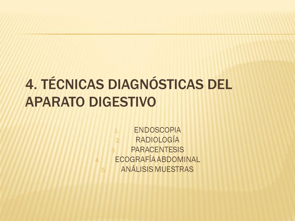 4. TÉCNICAS DIAGNÓSTICAS DEL APARATO DIGESTIVO