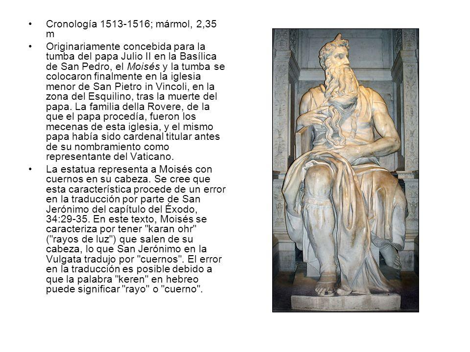 Cronología 1513-1516; mármol, 2,35 m