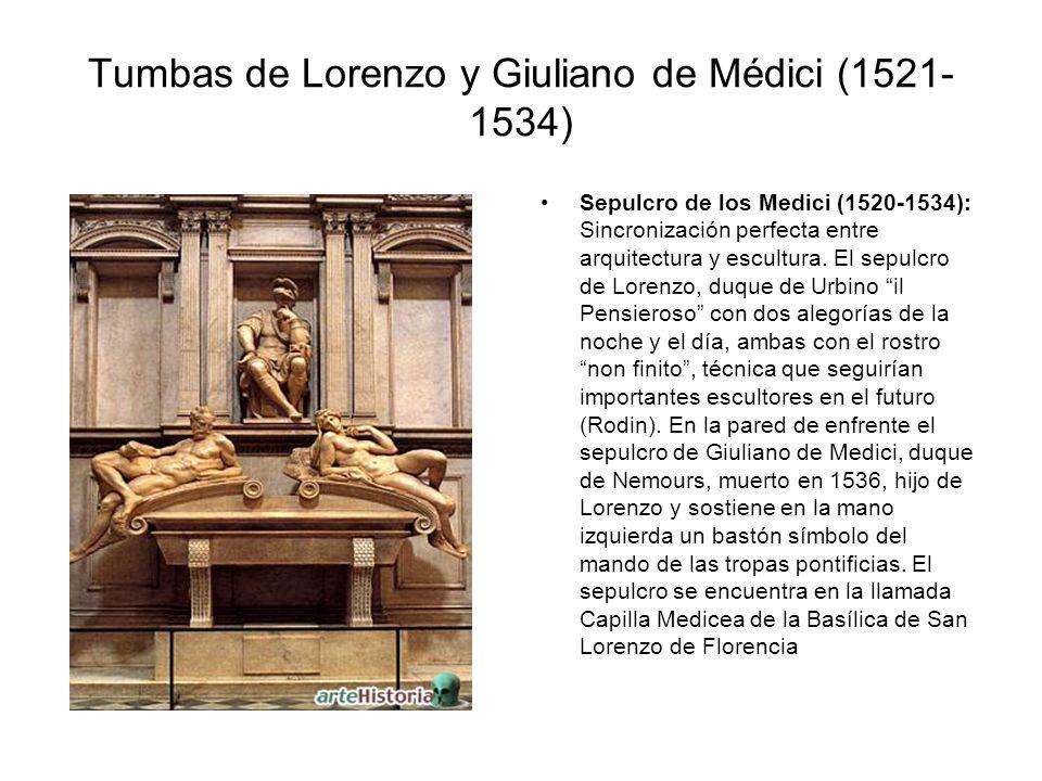 Tumbas de Lorenzo y Giuliano de Médici (1521-1534)
