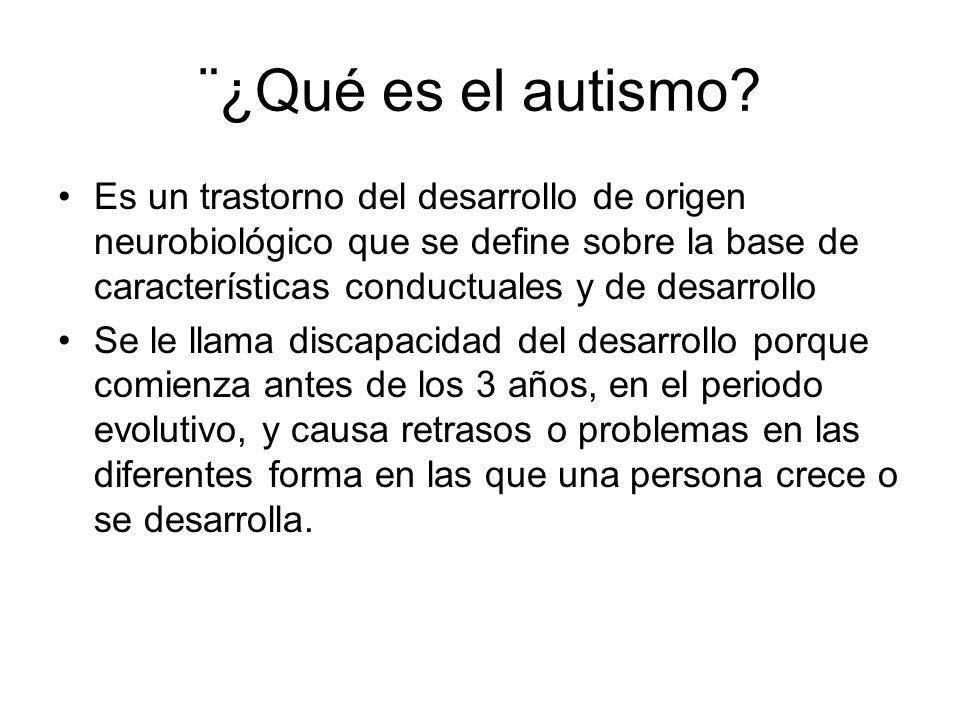 ¨¿Qué es el autismo
