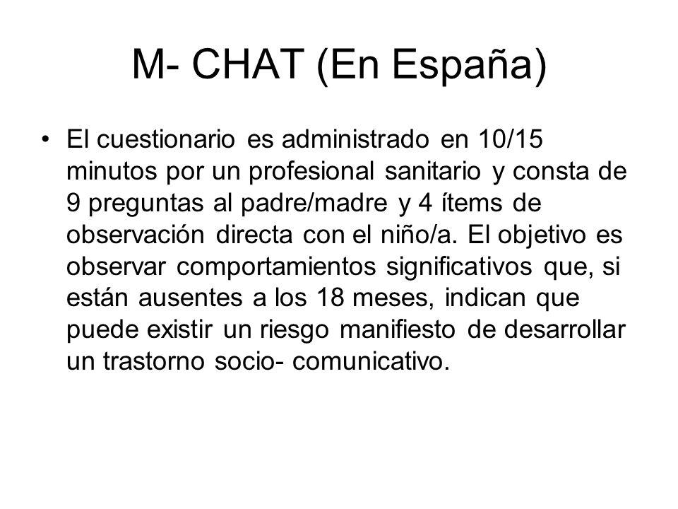 M- CHAT (En España)