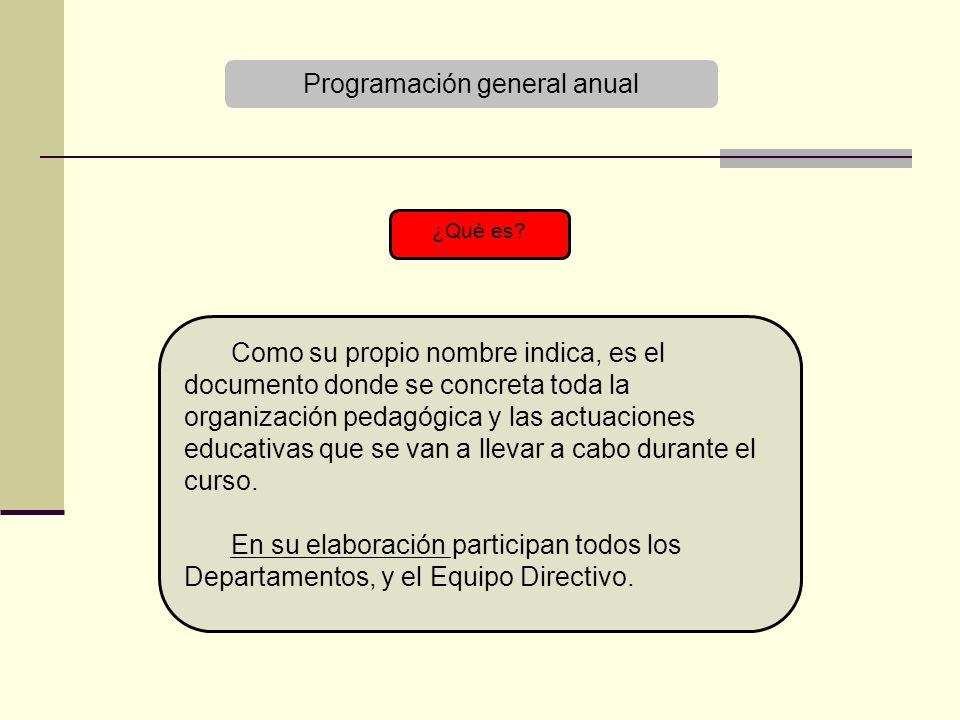 Programación general anual