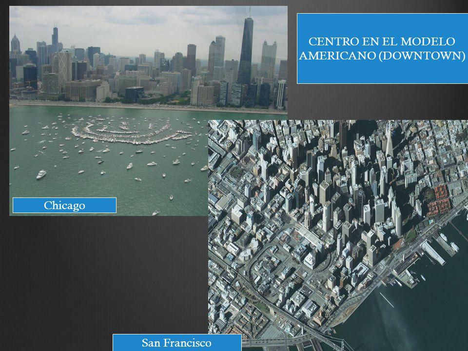 CENTRO EN EL MODELO AMERICANO (DOWNTOWN) Chicago San Francisco