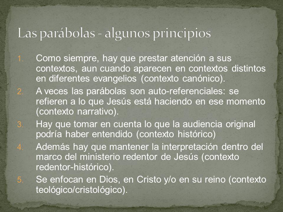 Las parábolas - algunos principios