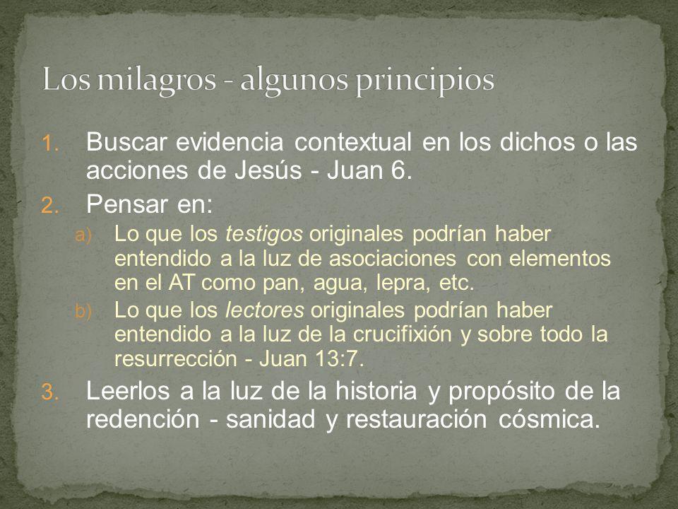 Los milagros - algunos principios