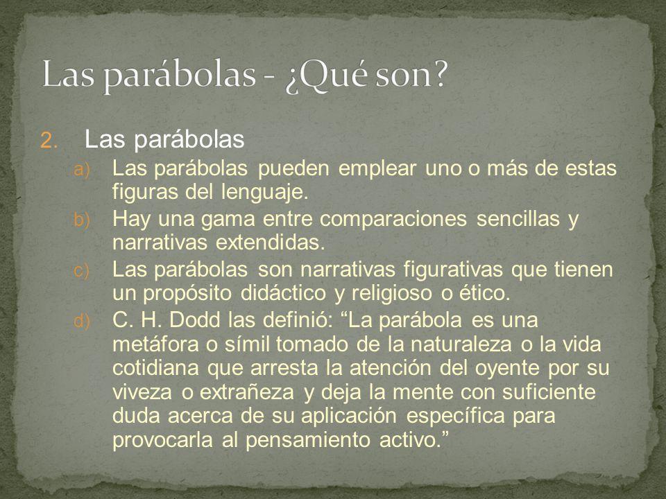 Las parábolas - ¿Qué son