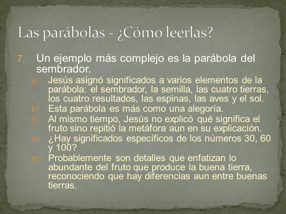 Las parábolas - ¿Cómo leerlas
