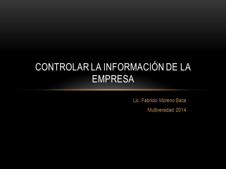 Controlar la Información de la Empresa