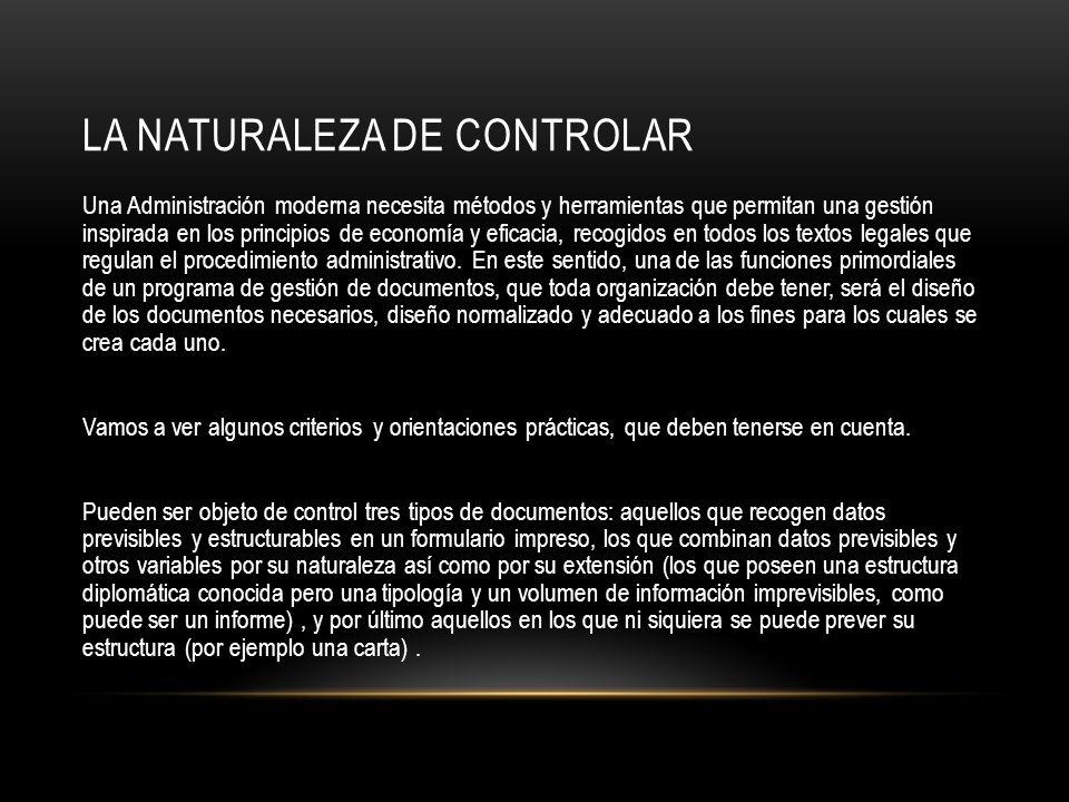 La Naturaleza de Controlar