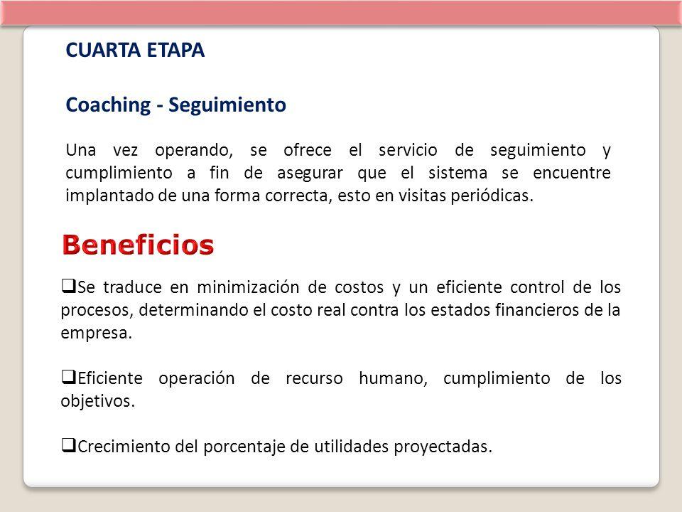 Beneficios CUARTA ETAPA Coaching - Seguimiento