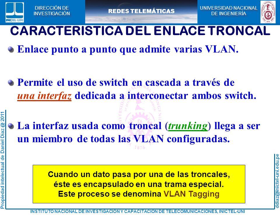 CARACTERISTICA DEL ENLACE TRONCAL
