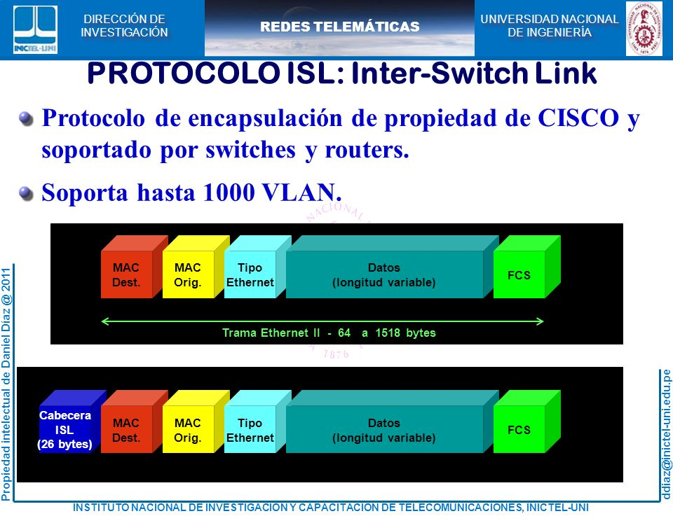 PROTOCOLO ISL: Inter-Switch Link
