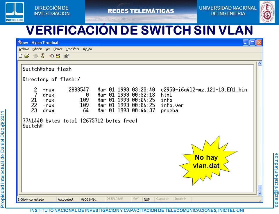 VERIFICACIÓN DE SWITCH SIN VLAN