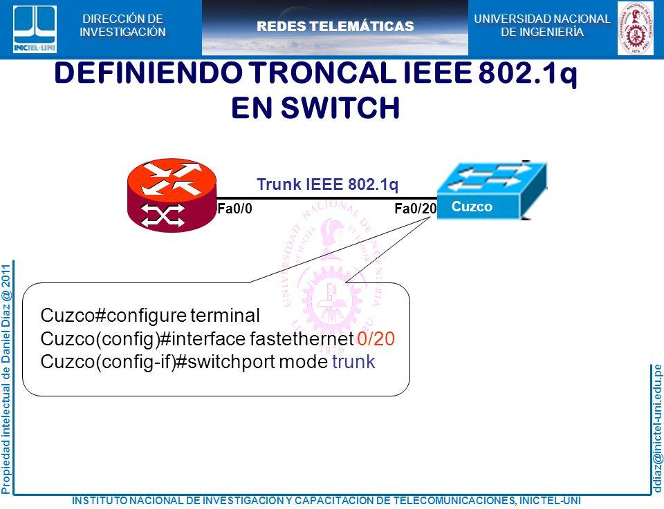DEFINIENDO TRONCAL IEEE 802.1q