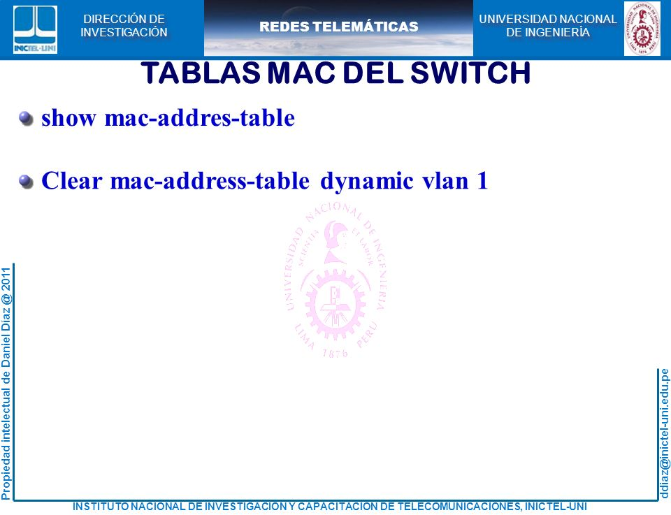 TABLAS MAC DEL SWITCH show mac-addres-table