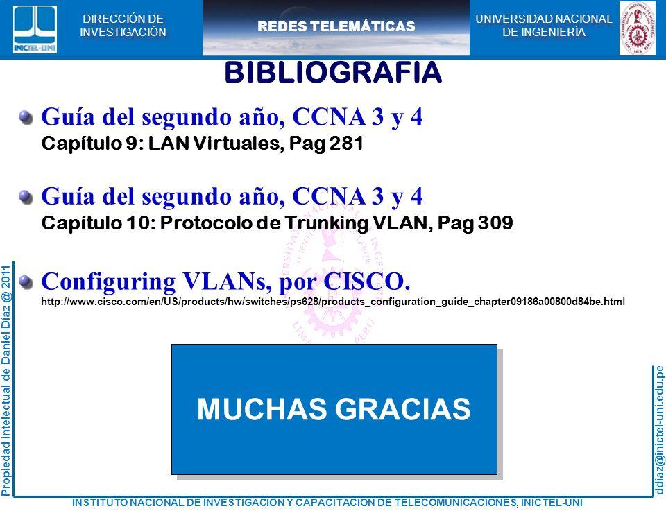 BIBLIOGRAFIA MUCHAS GRACIAS Guía del segundo año, CCNA 3 y 4