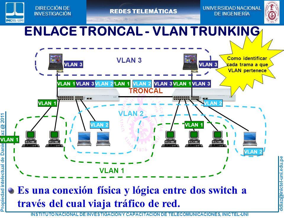 ENLACE TRONCAL - VLAN TRUNKING