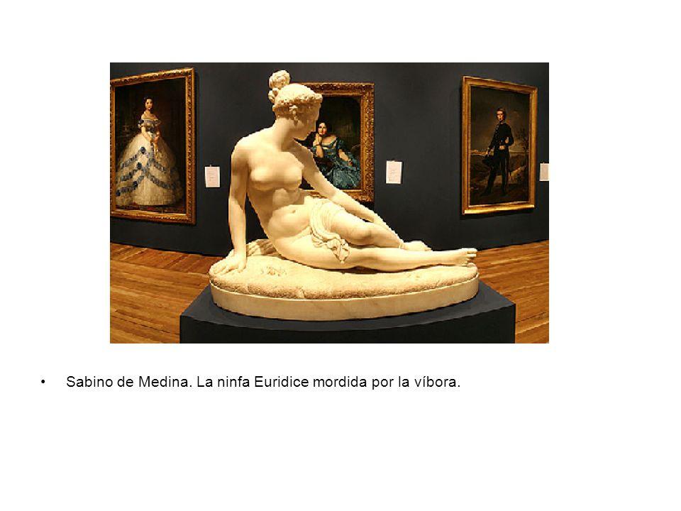 Sabino de Medina. La ninfa Euridice mordida por la víbora.