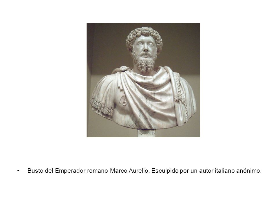 Busto del Emperador romano Marco Aurelio