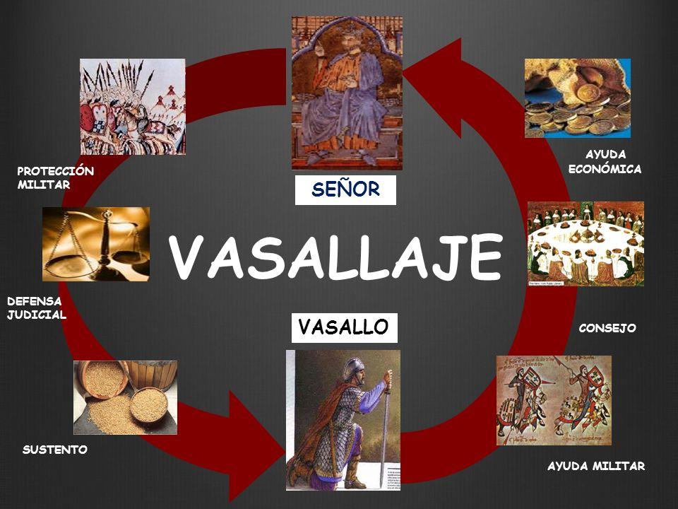 VASALLAJE SEÑOR VASALLO AYUDA ECONÓMICA PROTECCIÓN MILITAR