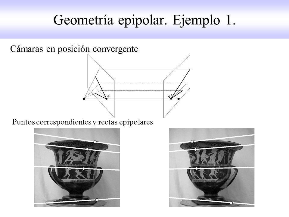 Geometría epipolar. Ejemplo 1.