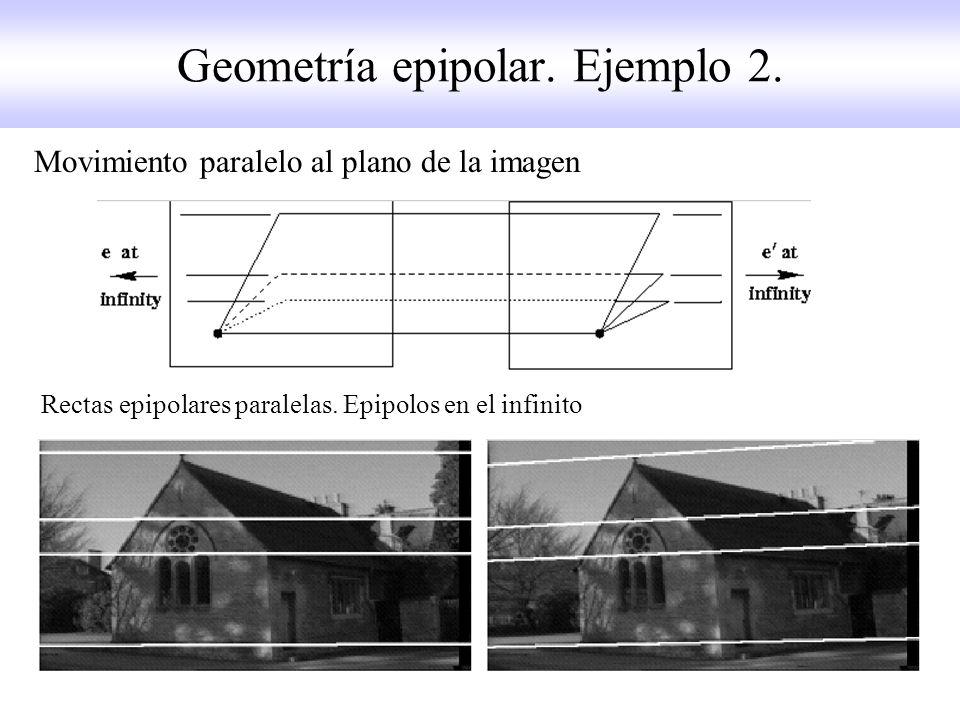 Geometría epipolar. Ejemplo 2.