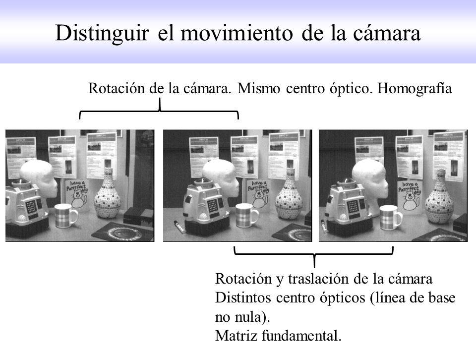 Distinguir el movimiento de la cámara
